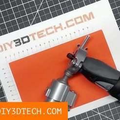 Dremel_Adapater_01.jpg Download free STL file Dremal Mounting Adapter! • 3D printable design, DIY3DTech
