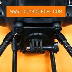 Yuneec_GoPro_Mount_03.jpg Download free STL file Yuneec Typhoon H Universal Camera Mount! • Model to 3D print, DIY3DTech