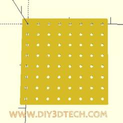 pegboard_01.jpg Download free SCAD file Pegboard and Holes Utility! • 3D printable model, DIY3DTech