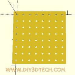 pegboard_01.jpg Télécharger fichier SCAD gratuit Pegboard and Holes Utility ! • Design à imprimer en 3D, DIY3DTech
