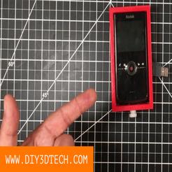 DIY3Dtech_Kodak_Zi8_Pocket_Video_Camera_Cage_v1.png Download free STL file Kodak Zi8 Pocket Video Camera Cage! • Model to 3D print, DIY3DTech