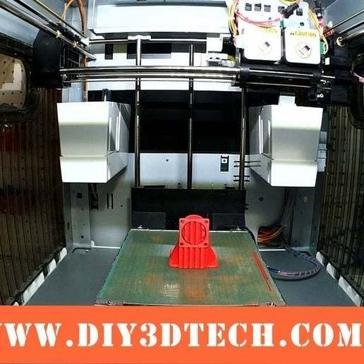Fan_01a.jpeg Download free STL file Wanhao & Tevo Tarantula 30mm Fan to 50mm Fan Adapter • 3D printable design, DIY3DTech