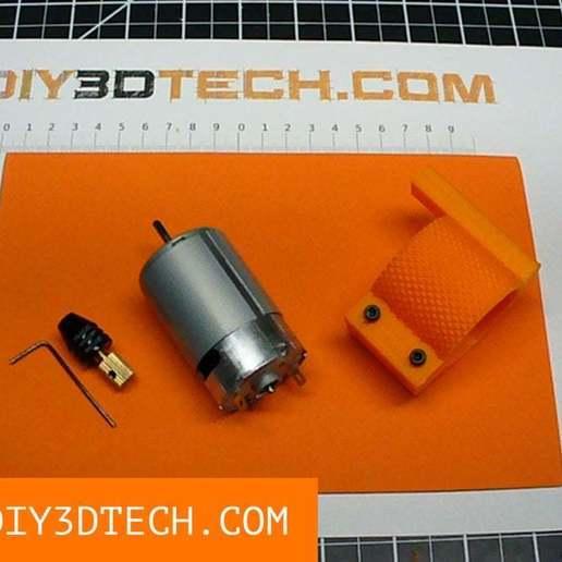 Download free STL file Mini-Lathe 555 Motor Tool Post Grinder! • 3D printable design, DIY3DTech