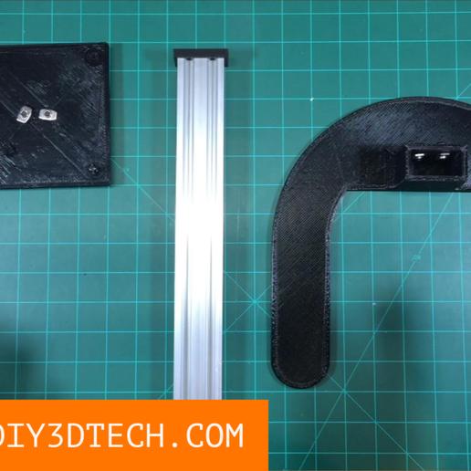 Download free STL file 3D Printable Monitor / TV Stand! • 3D printable design, DIY3DTech