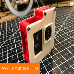 Download free 3D printer files Action Camera Cage!, DIY3DTech