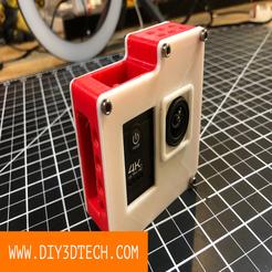 DIY3DTech_Action_Camera_Cage_02.png Télécharger fichier STL gratuit Action Camera Cage ! • Plan pour impression 3D, DIY3DTech