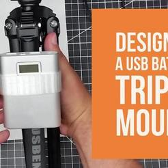 Download free 3D printing designs USB Power-Bank to Tripod Mount!, DIY3DTech