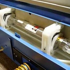 P1020221.JPG Download free SCAD file 40 Watt CO2 Laser Tube Clip Remix • 3D printer object, DIY3DTech