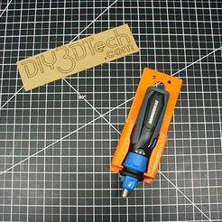 PD_03.jpg Télécharger fichier STL gratuit HAMMERHEAD Power Driver Holder ! • Design pour impression 3D, DIY3DTech