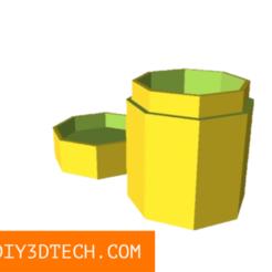 TV_PillBox_Designer_01.png Download free SCAD file Pillbox Designer! • 3D printing template, DIY3DTech