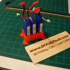 P1020468.JPG Download free STL file Battery Charging Holder for Syma X8 Series Drone / Quadcopter • 3D printing design, DIY3DTech
