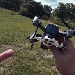 DJI_Spark_Drone_808_Keychain_camera_02.jpg Télécharger fichier STL gratuit DJI Spark 808 Support de caméra pour porte-clés • Plan pour imprimante 3D, DIY3DTech