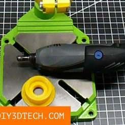 DIY3Dtech_Dremel_Mill_Adapter_01_v1.jpg Download free STL file Dremel Milling Machine Adapter! • Model to 3D print, DIY3DTech
