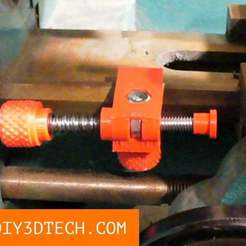 EndStop_01.jpg Download free STL file Chinese Mini-Lathe Carriage End-Stop! • 3D printing template, DIY3DTech