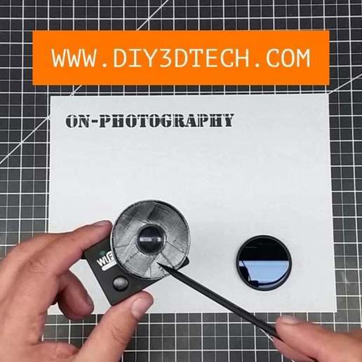 Télécharger fichier 3D gratuit Adaptateur à filtre variable pour les caméras d'action GoPro Style et les modules IR !, DIY3DTech