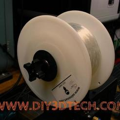 Pic_03.jpg Download free SCAD file Precision 608zz Customizable Variable Sized Spool Holder! • 3D printer model, DIY3DTech