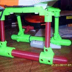 Download free 3D printing templates Redesigned landing skid set for Twister Quattro-X Drone, technicsorganman