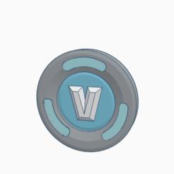 Descargar modelos 3D para imprimir Monedas V fortnite, Spiderflash3D
