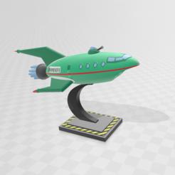 1.1.PNG Download STL file space ship Futurama • 3D printer model, Spiderflash3D