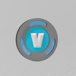 1.PNG Download STL file V fortnite coins • 3D print design, Spiderflash3D