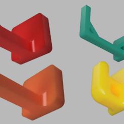 render.PNG Télécharger fichier STL gratuit Crochets pour drone/quad (ruban de montage) • Modèle pour impression 3D, markwinap