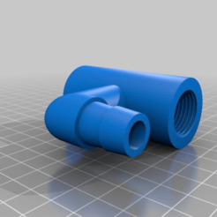 Download free 3D printing templates 1/2 Thread to 5/8 Tube Connector V2, markwinap