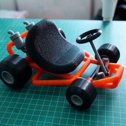 Descargar diseños 3D Mario Kart Go-kart, markwinap