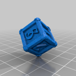 Wooden_D6_Dice_with_Numbers_by_Mehdals.png Download free STL file Wooden D6 Dice • Object to 3D print, Mehdals