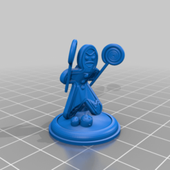 Gingerbread_Man_with_Suckers_by_Mehdals.png Download free STL file Gingerbread Men Warriors for Tabletop Adventures • 3D print template, Mehdals