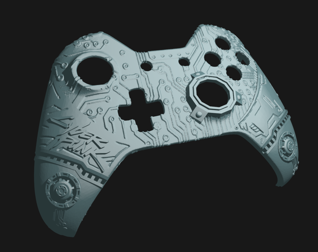 cp_1.png Download free STL file CyberPunk Xbox Controller Faceplate • Design to 3D print, Mehdals