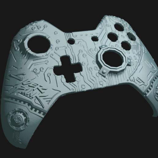 cp_1.png Télécharger fichier STL gratuit Façade du contrôleur CyberPunk Xbox • Objet pour imprimante 3D, Mehdals