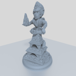Download free 3D printer templates Monkey Monk 28mm Miniature for Tabletop Adventures, Mehdals