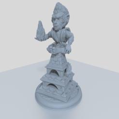 untitled.png Télécharger fichier STL gratuit Miniature de 28 mm du moine singe pour les aventures de table • Plan imprimable en 3D, Mehdals