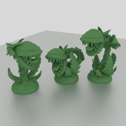 Impresiones 3D Planta de Maneater 28mm Criatura para aventuras de mesa, Mehdals