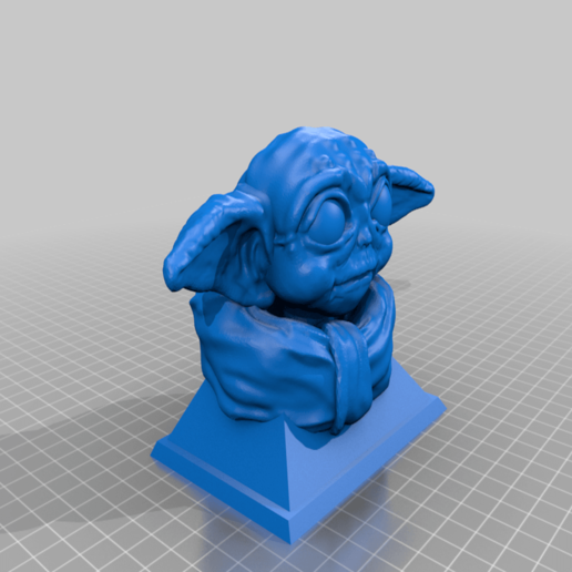 Download free STL file Baby Yoda Bust • 3D printing object, Mehdals