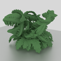 Download 3D print files Maneater Plant 50mm Large Creature for Tabletop Adventures, Mehdals
