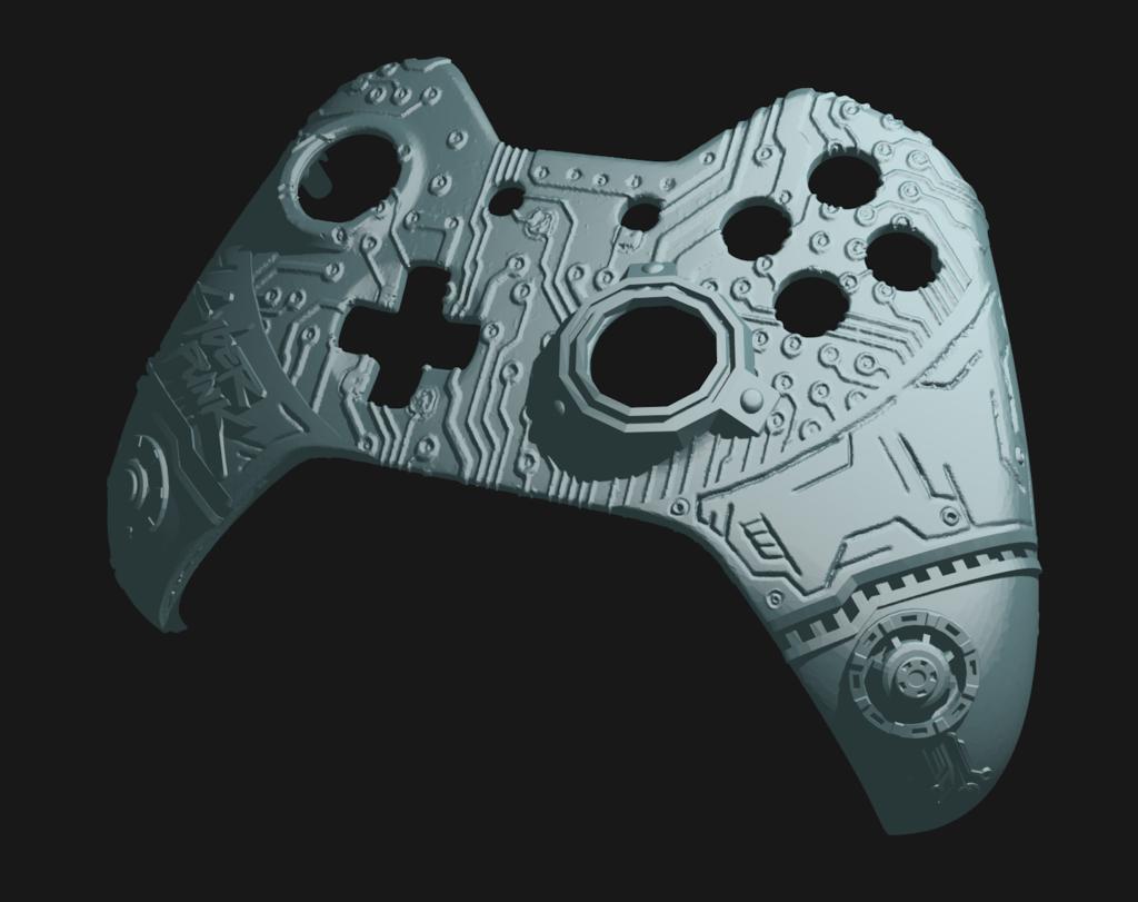 cp_2.png Télécharger fichier STL gratuit Façade du contrôleur CyberPunk Xbox • Objet pour imprimante 3D, Mehdals