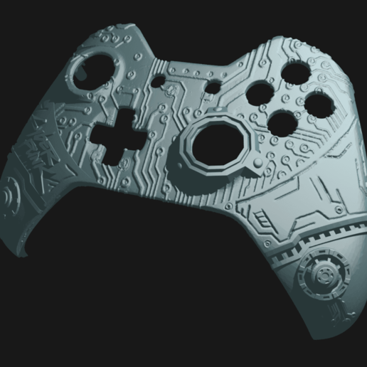 cp_2.png Download free STL file CyberPunk Xbox Controller Faceplate • Design to 3D print, Mehdals