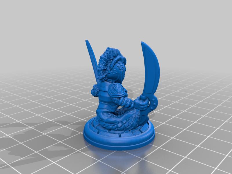 Naga_Swords_by_Mehdals.png Télécharger fichier STL gratuit Naga à l'épée • Plan imprimable en 3D, Mehdals
