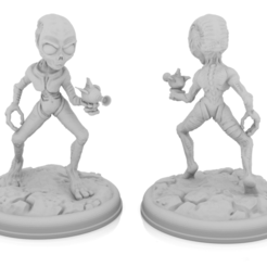 grey 1.png Download STL file Grey Alien Set • 3D print model, Mehdals