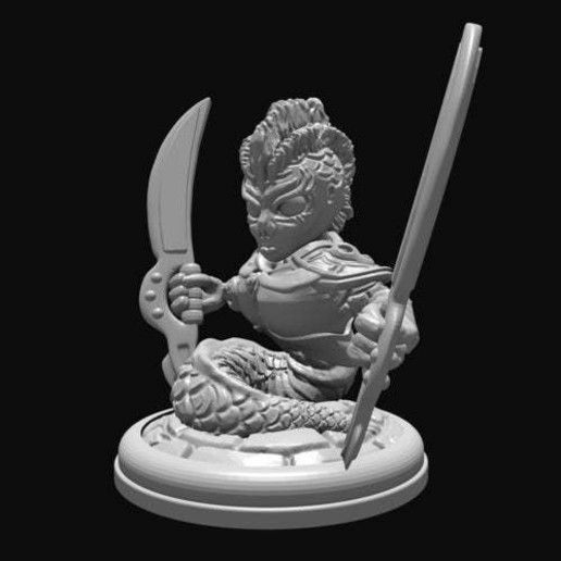 Download free 3D printing designs Naga with Swords, Mehdals
