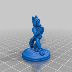 tabaxi_rogue_Sculpted__by_Mehdals.png Download free STL file Tabaxi Rogue by Newb0Turtle • Template to 3D print, Mehdals