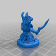 Dragon_Knight_Two_Swords_by_Mehdals.png Download free STL file Dragon Knight with Dual Swords • 3D print model, Mehdals