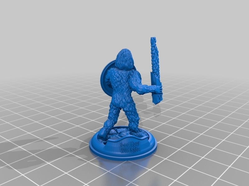 e59de47a0302db67119e4387f98e3aa1.png Download free STL file Sasquatch 28mm Minature • 3D printer design, Mehdals