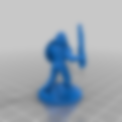 Sass_Warrior.stl Download free STL file Sasquatch 28mm Minature • 3D printer design, Mehdals