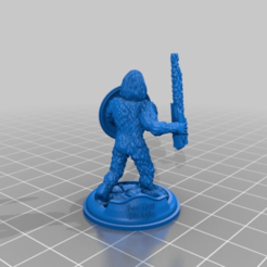 Download free 3D printing templates Sasquatch 28mm Minature, Mehdals