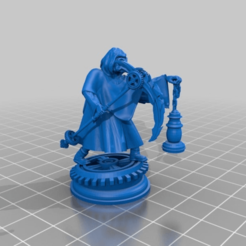 Download free 3D printing designs Plague Doctor Steam Punk with Scythe, Mehdals