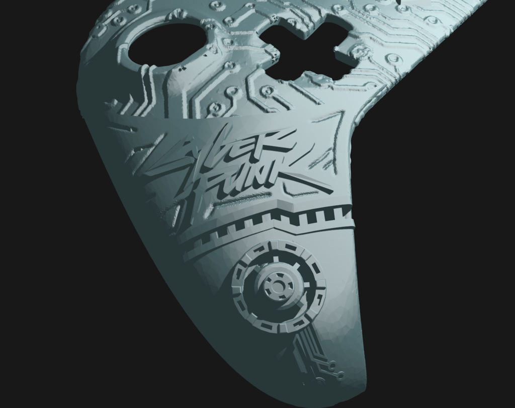 cp_4.png Download free STL file CyberPunk Xbox Controller Faceplate • Design to 3D print, Mehdals