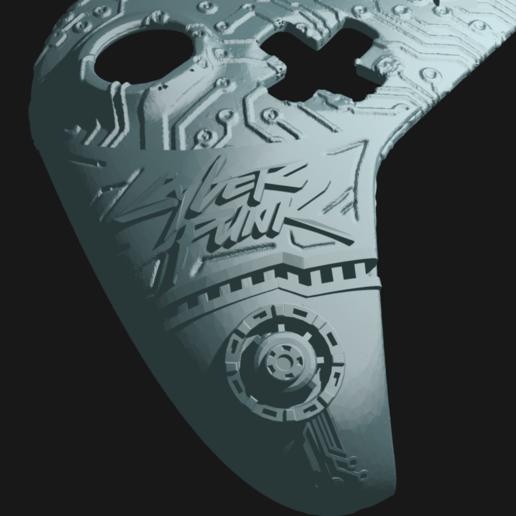 cp_4.png Télécharger fichier STL gratuit Façade du contrôleur CyberPunk Xbox • Objet pour imprimante 3D, Mehdals