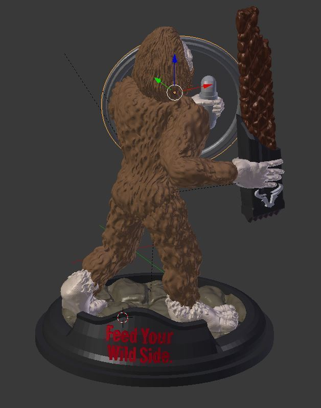 warrior.JPG Download free STL file Sasquatch 28mm Minature • 3D printer design, Mehdals